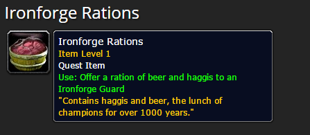 Ironforge Rations